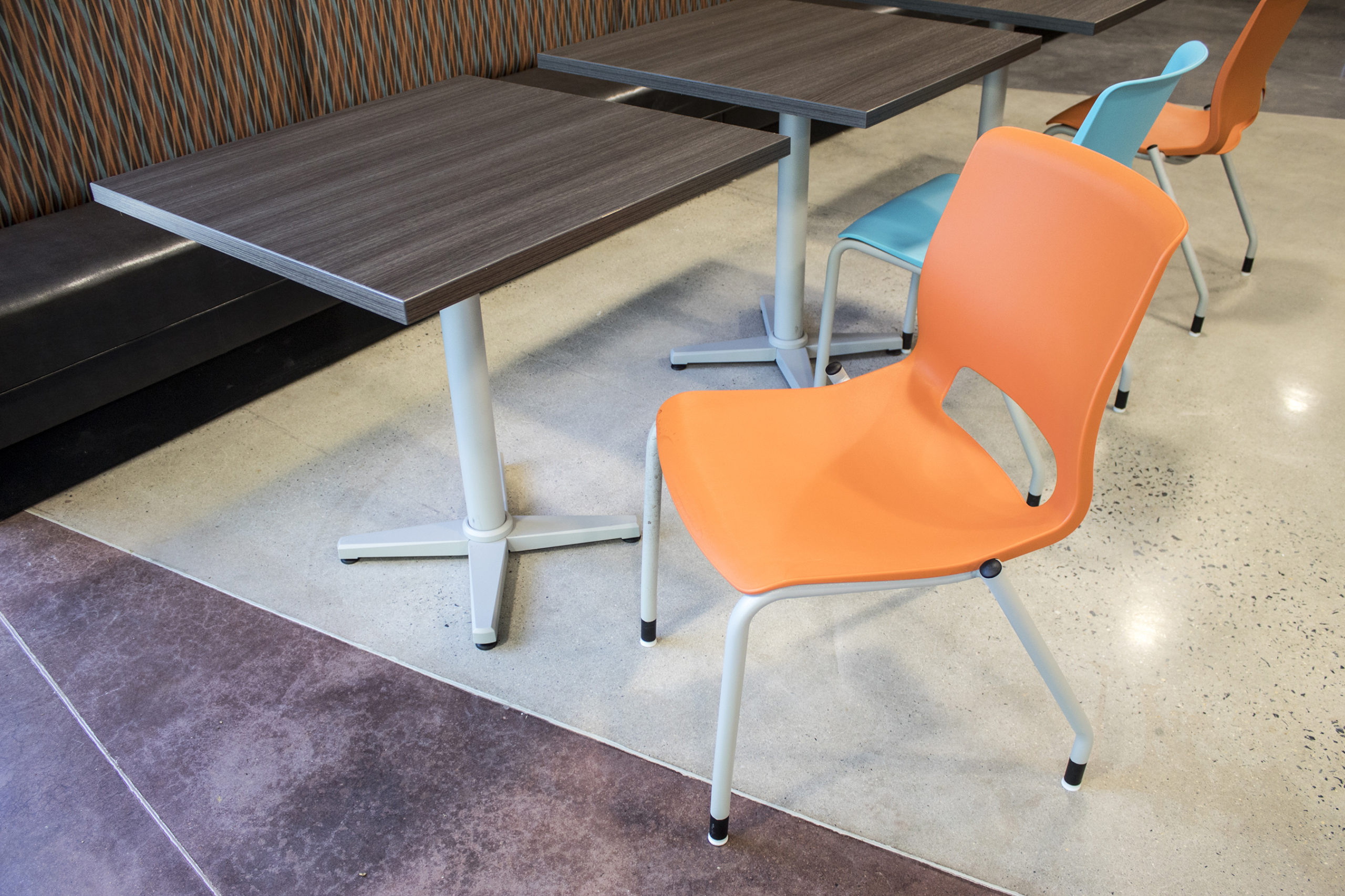 Employee Breakroom Chair and Table Closeup 2