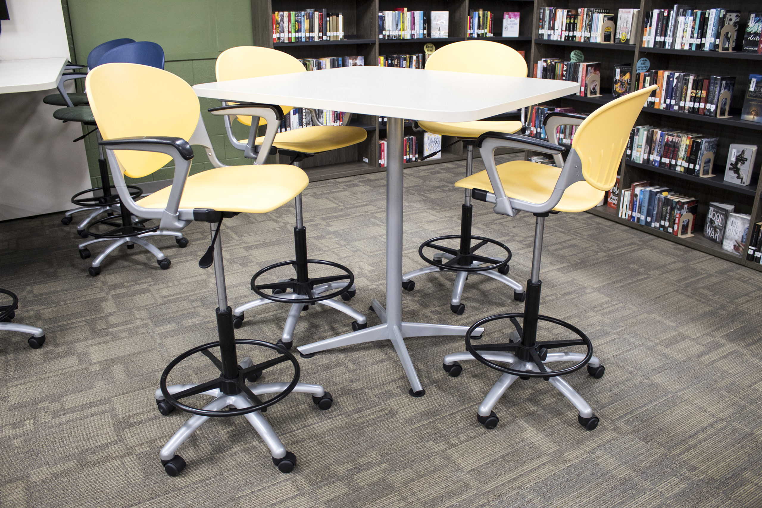 Footings Collaborative Table and Cinch Task Stools